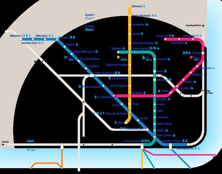 Скачать схему метро Лиссабона