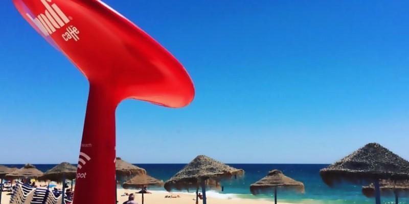 Бесплатный WiFi на пляжах Португалии
